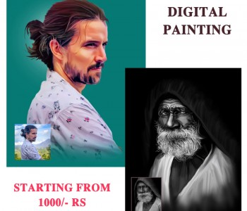 I will Design a Beautiful Digital Painting from photos will be you Provide: